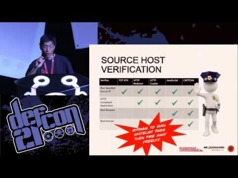 DEF CON 21 - Tony Mui and Wai Leng Lee - Kill em All — DDoS Protection Total Annihilation