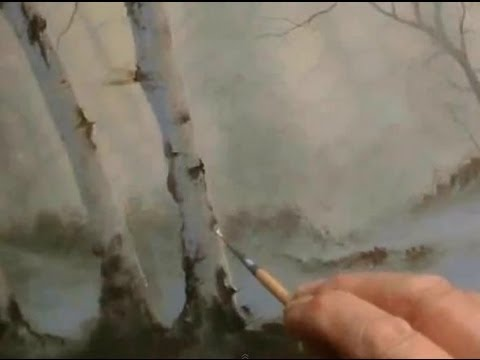How To Paint Birch Trees An Oil Painting By Alan Kingwell