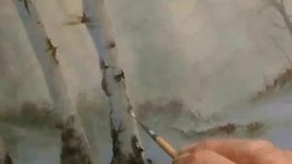 HOW TO PAINT  BIRCH TREES,an Oil Painting by Alan Kingwell