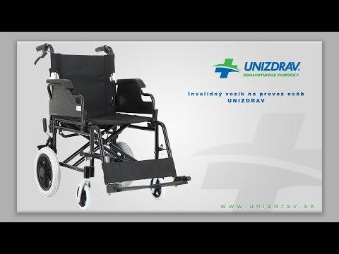 Invalidný vozík na prevoz osôb UNIZDRAV - VIDEOMANUÁL
