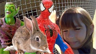 Homem Aranha Spider Man Duende Verde Capitão América Cenoura Coelhos bonecos Hotel Rochedo Toys Kids