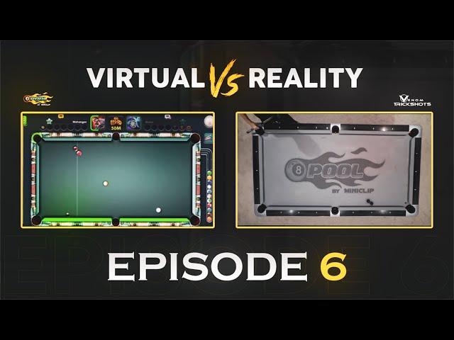 VIRTUAL VS REAL 8-BALL POOL TRICK SHOT -Ep 6 - Venom Trickshots