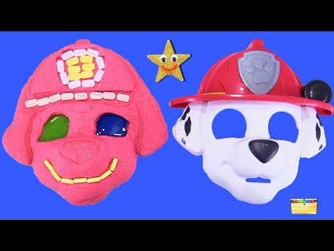Making PAW PATROL MARSHALL w/ Kinetic Sand, PEZ, Slime, Mask, Surprise Toy Games - LEARN COLORS