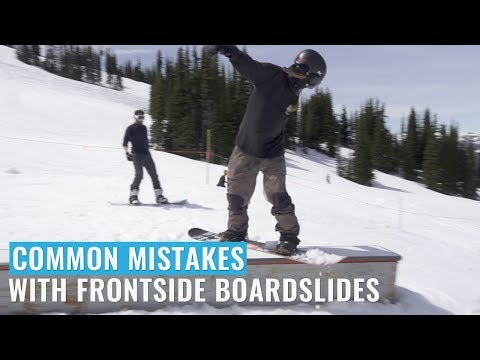 Common Mistakes With Frontside Boardslides