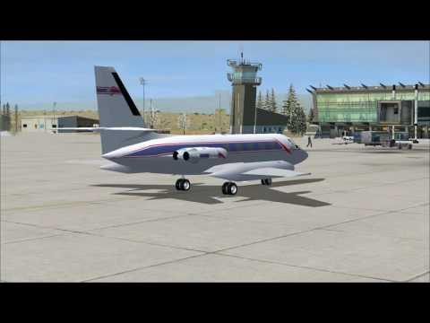 FSX Lockheed Jetstar take off at El Calafate airport