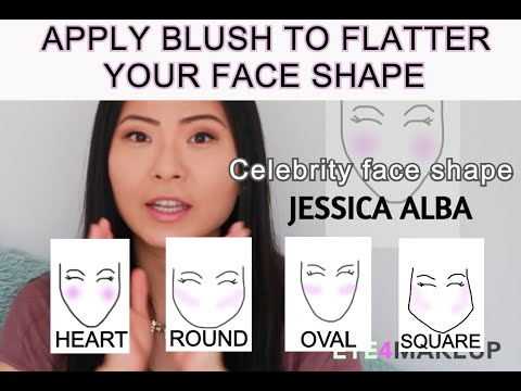 HOW TO APPLY BLUSH TO FLATTER YOUR FACE SHAPE | Round, Oval, Heart, Square| Celebrity References!
