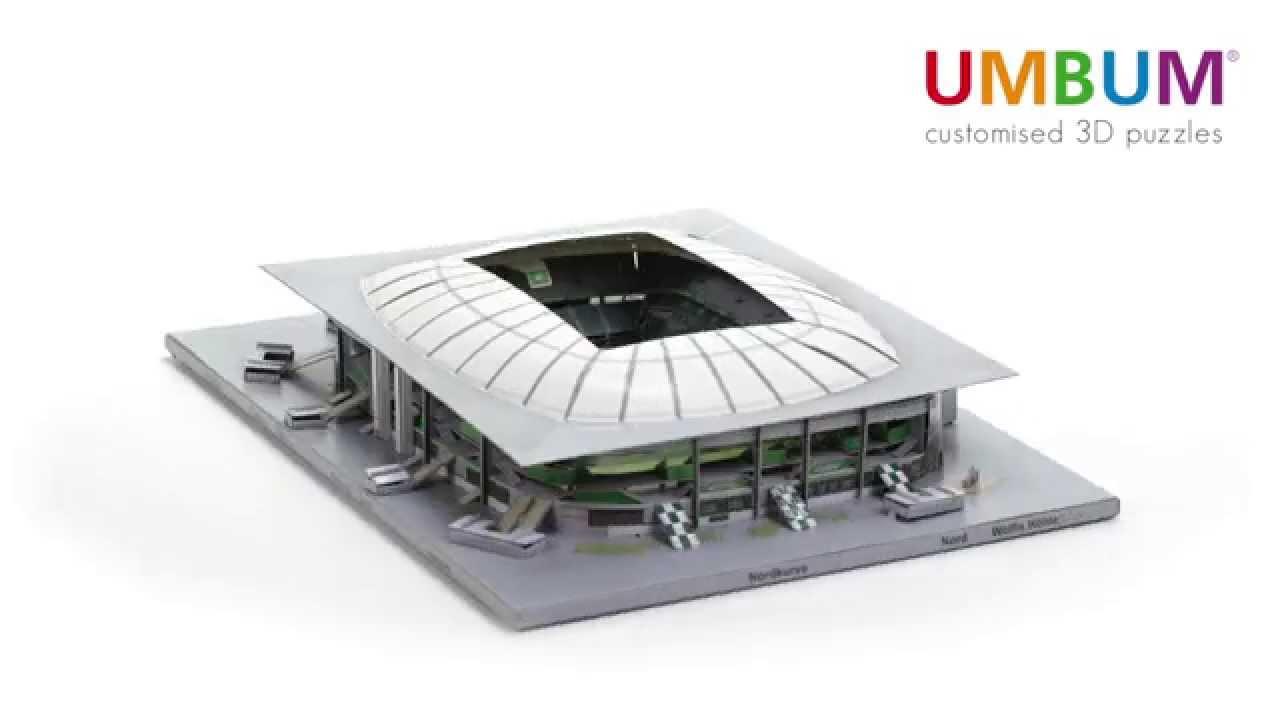 volkswagen arena 3d puzzle modell in einer 360 ansicht youtube. Black Bedroom Furniture Sets. Home Design Ideas