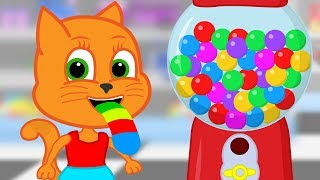 Familia de gatos - La Máquina Gumball Dibujos animados para niños