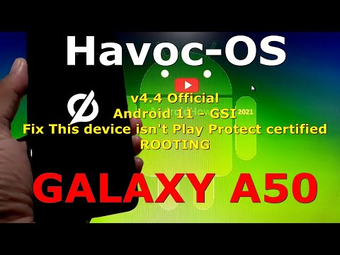 Havoc-OS v4.4 Official for Samsung Galaxy A50 - Android 11 GSI