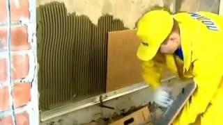 Отделка стен  Видео урок    Укладка плитки на клей и гидроизоляцию Polimin