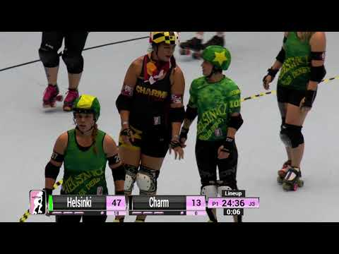2017 International WFTDA D1 Playoffs: Malmö - Game 2: Helsinki vs Charm City