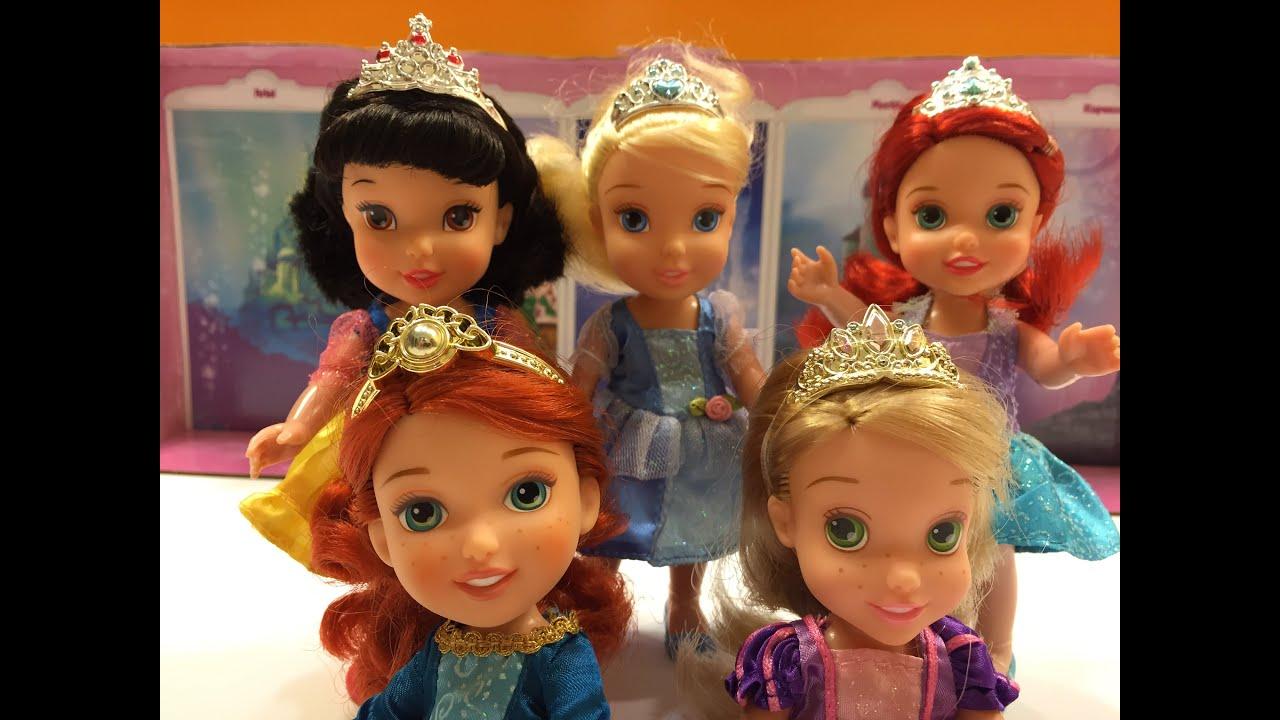 Papusi Disney Jucarii Pentru Fete Set Cu 5 Printese Adorabile Cu