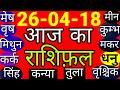 #227-आज का राशिफल।। 26 अप्रैल 2018।।Aaj Ka Rashifal 26 अप्रैल 2018 गुरुवार/AstroMitram