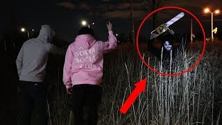 WE SAW LEATHER FACE IN REAL LIFE!! (HE CHASED US)
