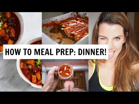 HOW TO MEAL PREP | 3 HEALTHY VEGAN & MEAT DINNER IDEAS!