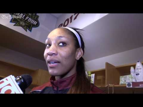 A'ja Wilson talks about the Gamecocks' win over Stanford