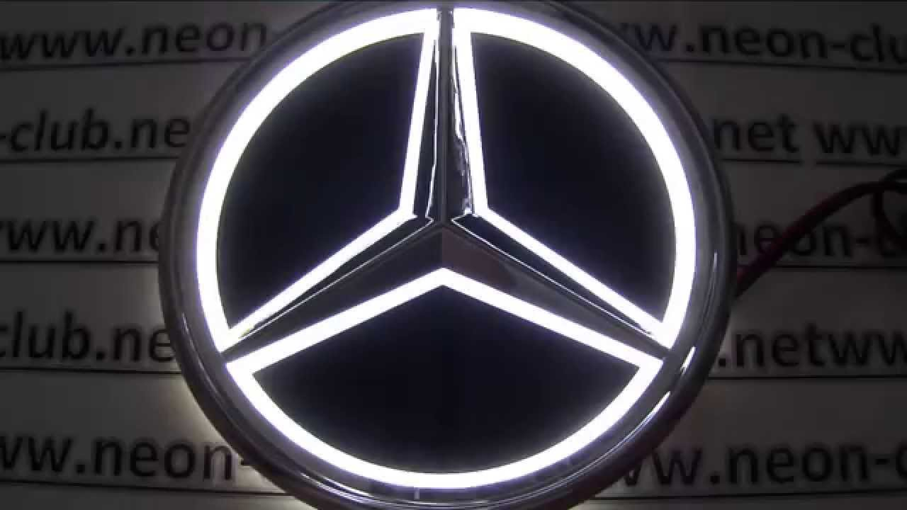 new 5d car badge mercedes lights benz led logo sticker light great parts and accessories. Black Bedroom Furniture Sets. Home Design Ideas