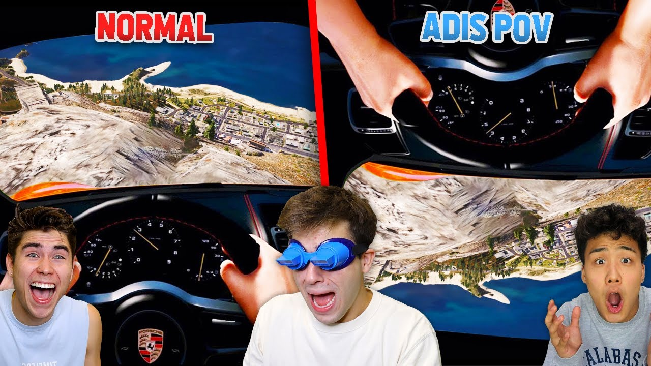 Playing GTA 5 But With UPSIDE DOWN Goggles!