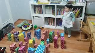 돌배기 손자의 돈 안드는 생일선물 놀이