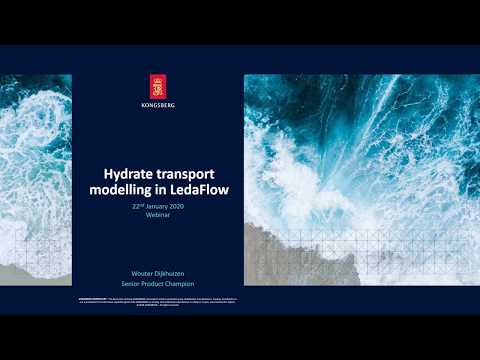 Hydrate transportation modelling with LedaFlow