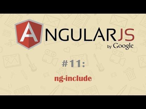 AngularJS Tutorial 11: ng include