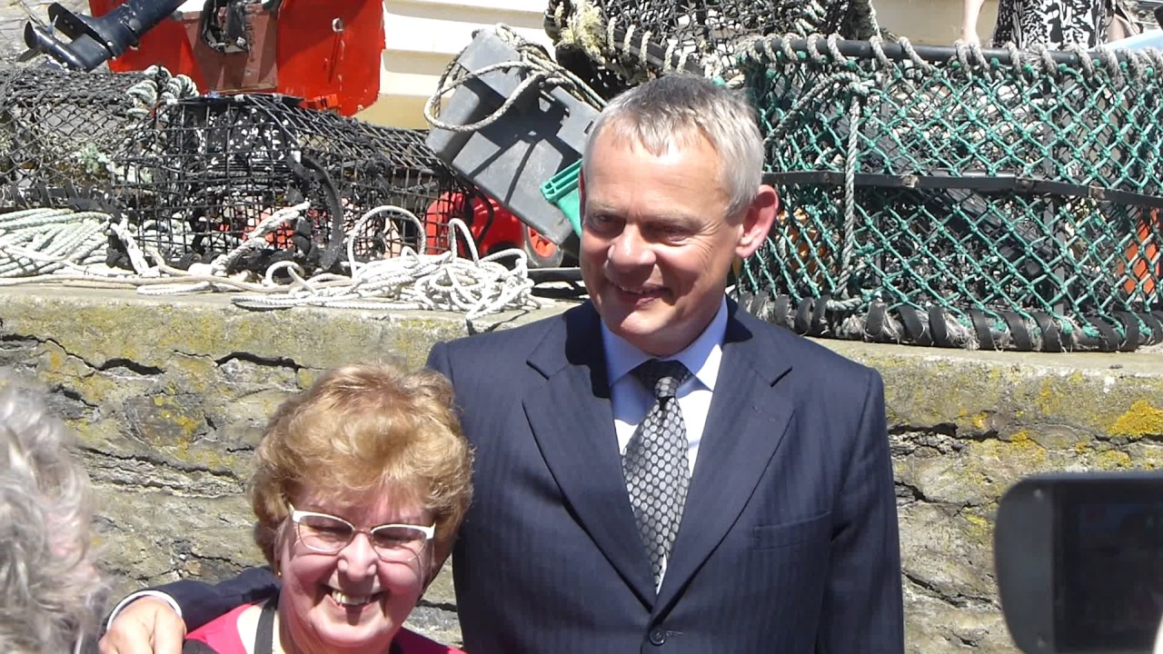 martin clunes meets fans during doc martin filming in 2017. Black Bedroom Furniture Sets. Home Design Ideas