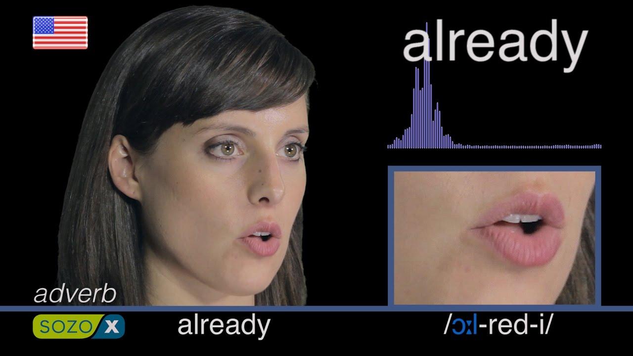 How To Pronounce ALREADY - American 英語の発音 pronunciación de Inglés 美國英語 Cách  phát âm