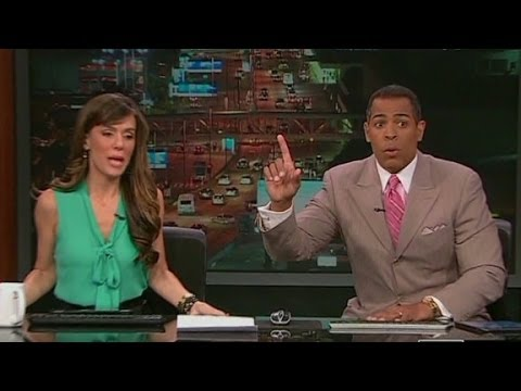 Earthquakes rattle live television