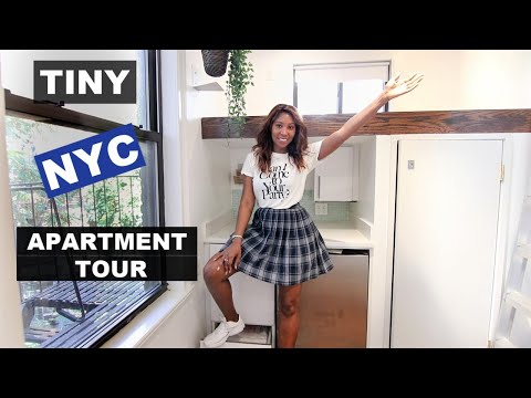TINY NYC Apartment Tour #2! 100sqft Under $2000, New York City Cheap Studio For Rent (2019)