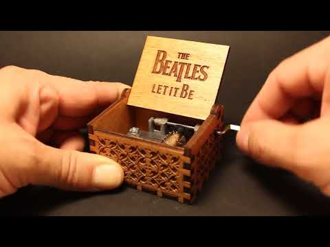 The Beatles - Let It Be - Engraved Wooden Music Box