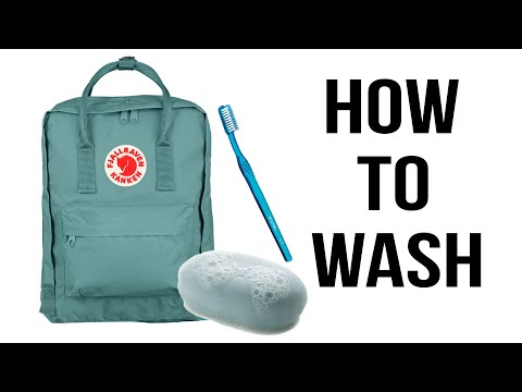 How to wash your Fjallraven Kanken Backpack Mini Sky Blue TIPS NOT EASY to WASH RUINED!