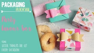 Party Favour box using Sizzix Thinlits Die Set Every Occasion - ENG