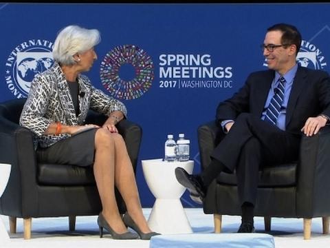 Lagarde and Mnuchin Discuss US Economy