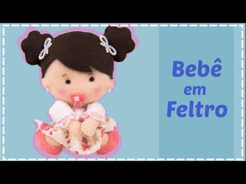🔴 Bebê em Feltro - Passo a Passo + Molde Grátis