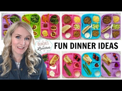 FUN DINNER IDEAS For KIDS + What They Ate || Bunches Of Lunches (Dinner Edition)