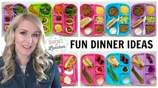 FUN DINNER IDEAS for KIDS   What They Ate || Bunches of Lunc...