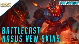 Trying new BattleCast Nasus Skin! League of Legends