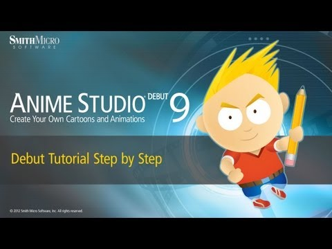 Anime Studio 9 (Moho) Debut Tutorial - Step by Step Tutorial