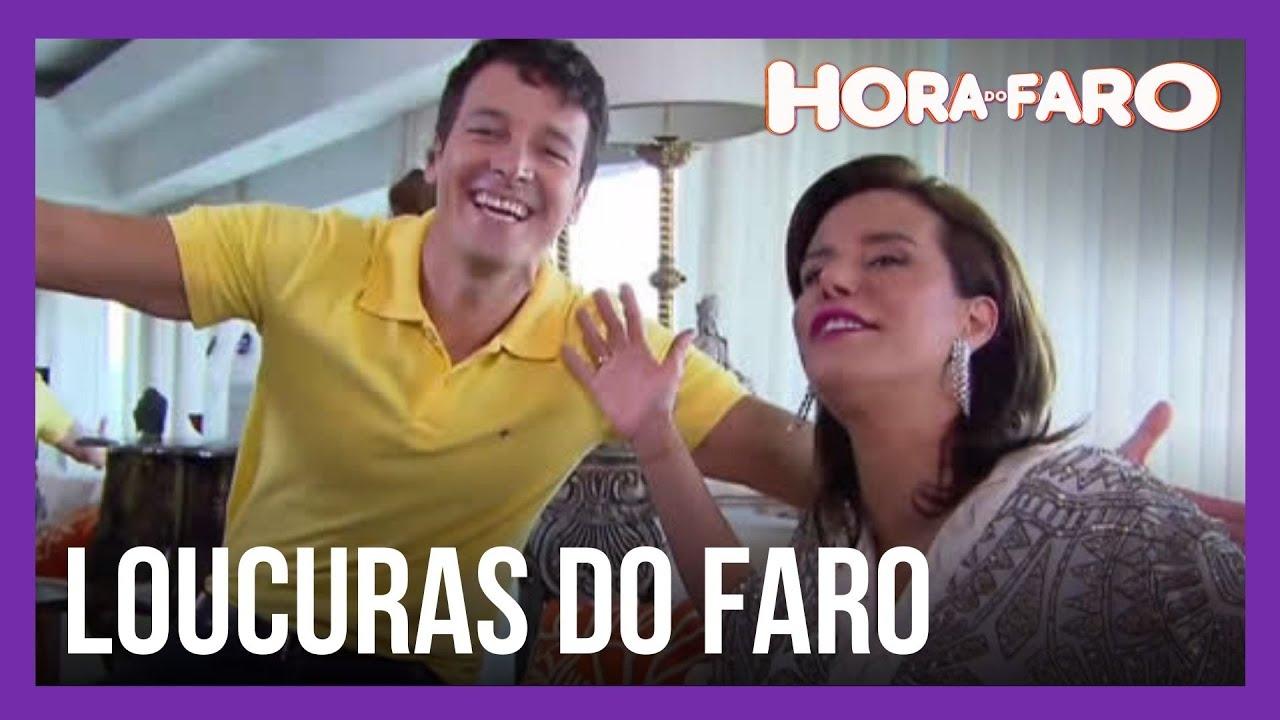 Narcisa Tamborindeguy cai em brincadeira em entrevista maluca do Faro