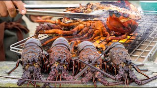 THE BEST LOBSTER CATCH AND COOK | Eating Raw Lobster and Lobster Ramen