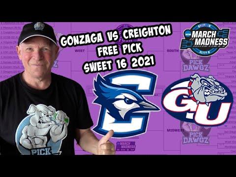 Gonzaga vs Creighton 3/28/21 Free College Basketball Pick and Prediction NCAA Tournament