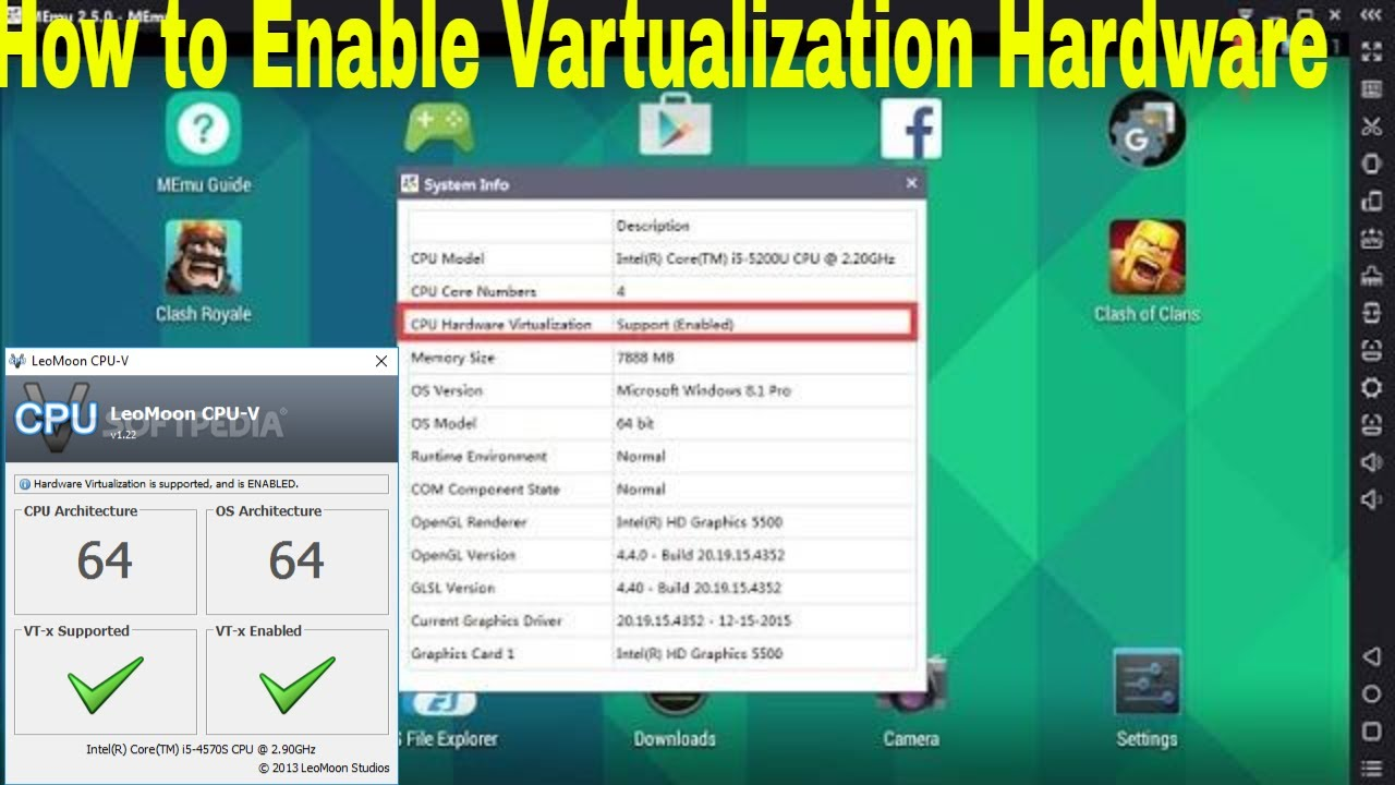 How to Enable Hardware Virtualization || Intel or AMD Processor for Android  emulator