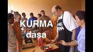 As Kurma dasa he taught the devotees to cook