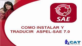 COMO INSTALAR Y TRADUCIR ASPEL-SAE 7.0