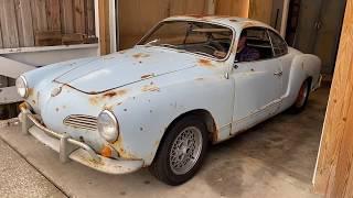 FIRST DRIVE IN 45 YEARS! 1967 VW Karmann Ghia lives again!!! RUSTY RESTORATION! SHOP UPDATE, CT