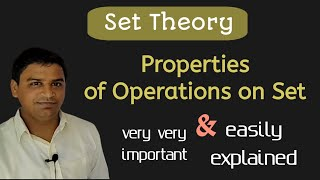 Properties of Operations on Sets    Hindi explanation  5