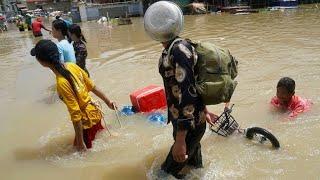 Land unter: Schwere Regenfälle in Kambodscha