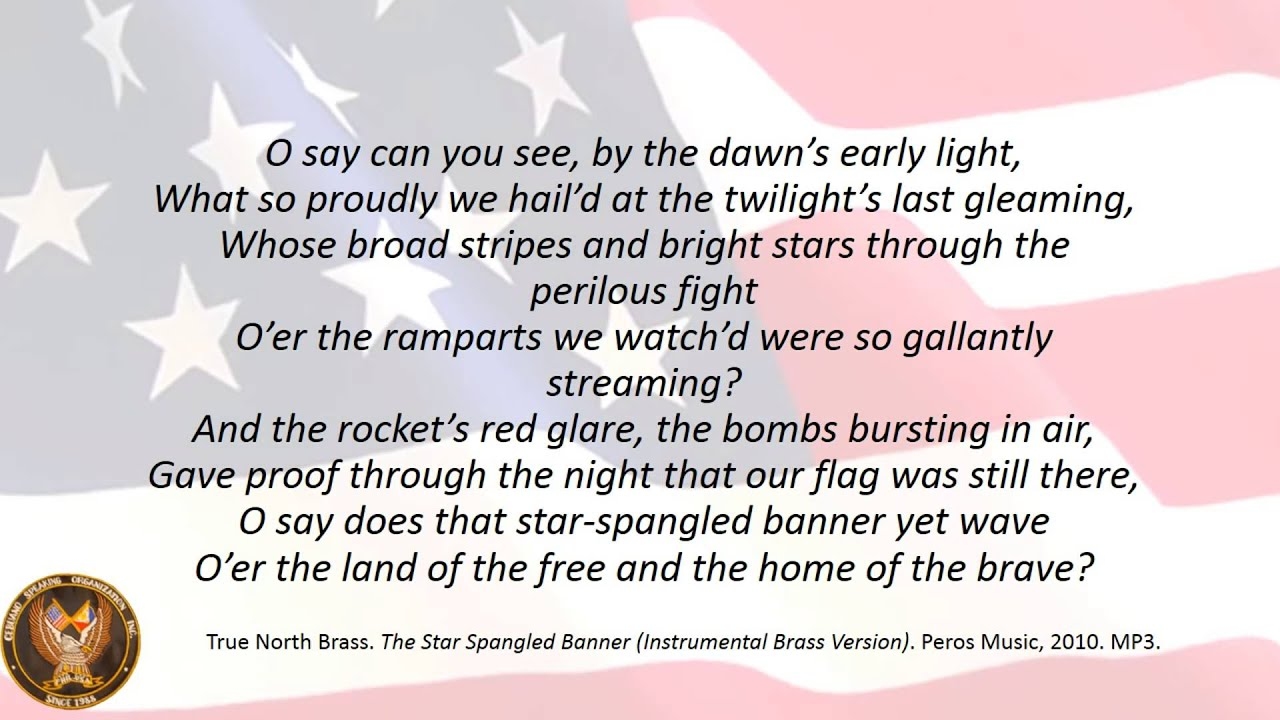 Star Spangled Banner First Stanza Karaoke - YouTube
