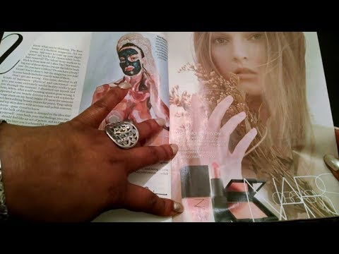 ASMR Glamour June 2017 Magazine Flip 🕶📚📗📕😴gum chewing, whispering & more