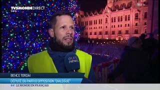 Hongrie : manifestation contre la modification du droit du travail par Viktor Orbán
